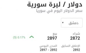 سعر الدولار في مدينة دمشق عند إغلاق يوم السبت 16 كانون الثاني