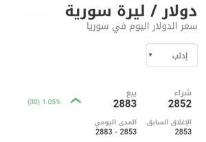 سعر الدولار في مدينة إدلب عند إغلاق يوم الأحد 3 كانون الثاني