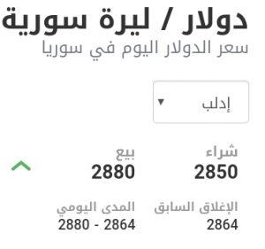 سعر الدولار في مدينة إدلب عند إغلاق يوم الخميس 14 كانون الثاني