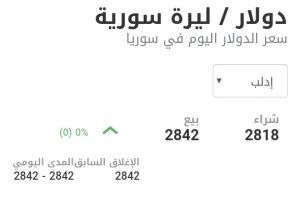 سعر الدولار في مدينة إدلب عند إغلاق يوم الخميس 7 كانون الثاني