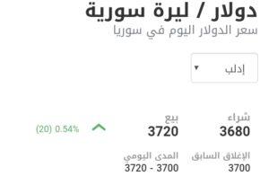 سعر الدولار في مدينة إدلب عند إغلاق يوم الاثنين 1 آذار