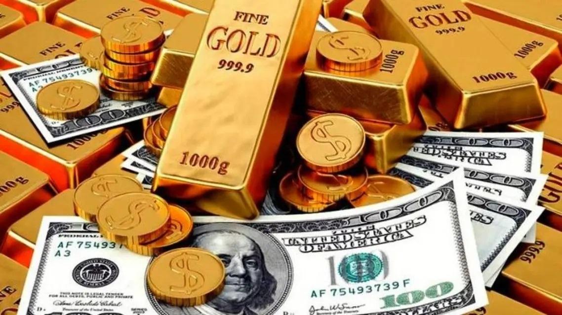 انخفاض عوائد سندات الخزانة الأمريكية يؤدي لانخفاض الدولار وارتفاع الذهب