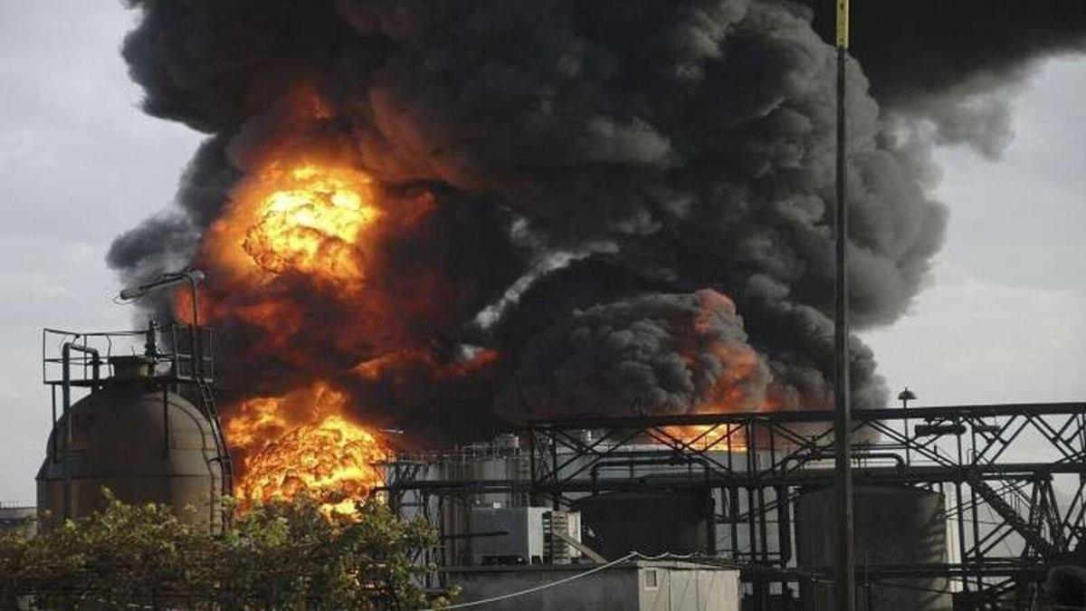 ما هي أسباب حريق مصفاة حمص وما هي أضراره؟