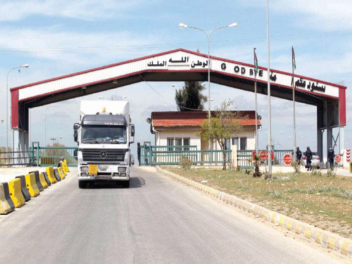معبر نصيب الحدودي يعود للعمل أمام الشاحنات فقط